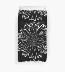 Sunflower in White Duvet Cover