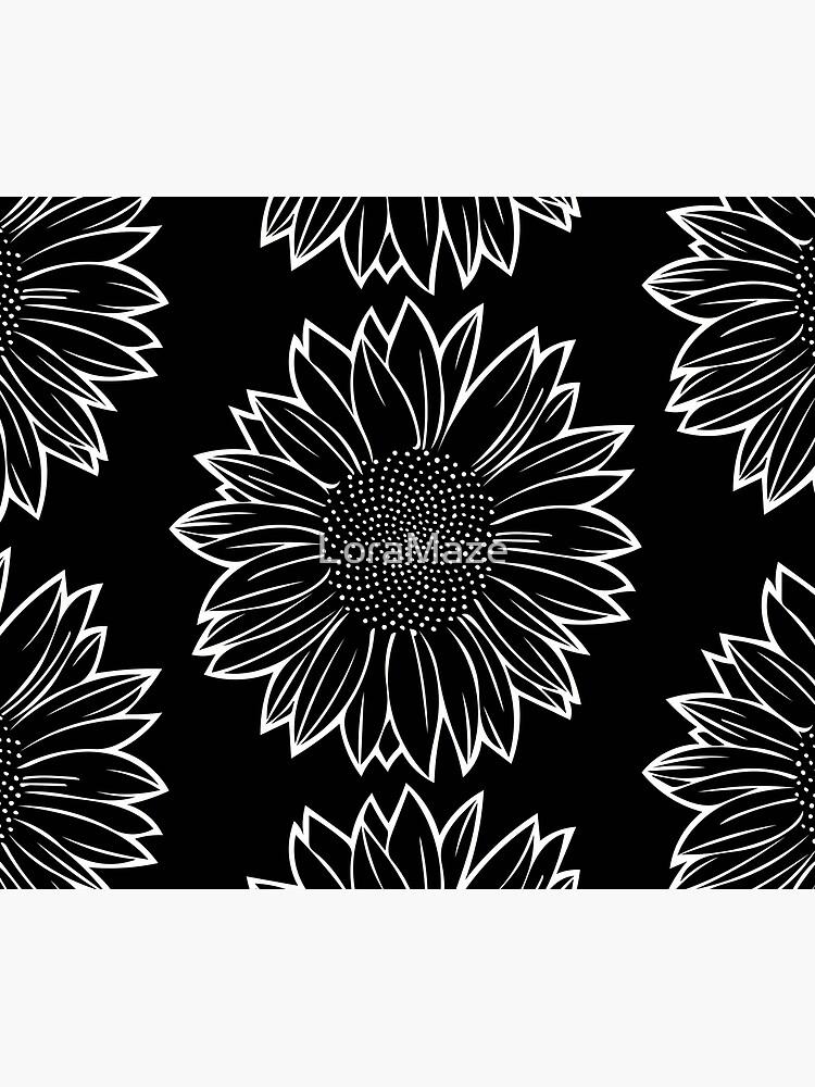 Sunflower in White by LoraMaze