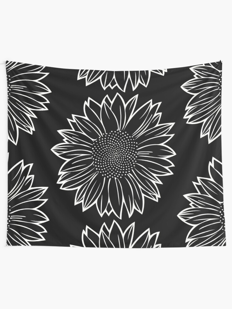 Alternate view of Sunflower in White Tapestry