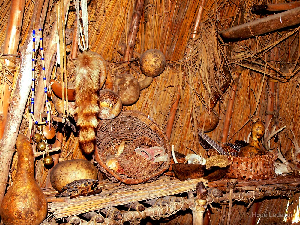 Quot Native American Longhouse Interior Quot By Hope Ledebur