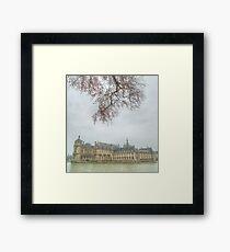 Chateau Chantilly framed Framed Print