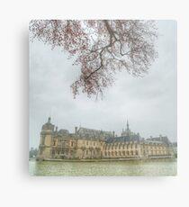 Chateau Chantilly framed Metal Print