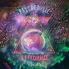 Psychedelic Astronaut logo print by psychastro