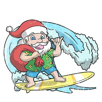 Mele Kalikiamka Santa Surfing Christmas by frittata