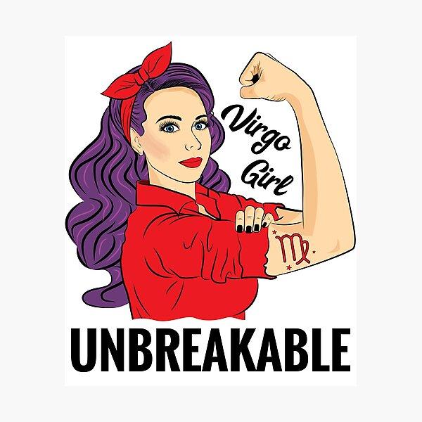 Virgo Girl Woman Unbreakable Photographic Print