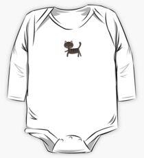 Body de manga larga para bebé Long Cat Brown