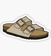 Birkenstocks Arizona Sandal Shoe Taupe Suede  Sticker