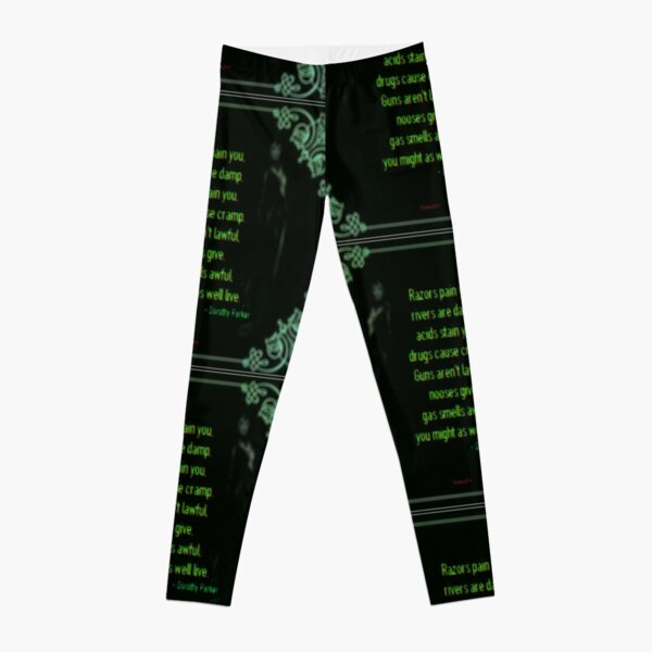 Might As Well Live - Dorothy Parker (emerald) Leggings