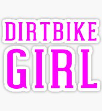 Dirtbike Girl For Motocross Dirt Bike Women Riders Sticker