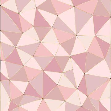 Rose Gold Patchwork by FayeLangoulant