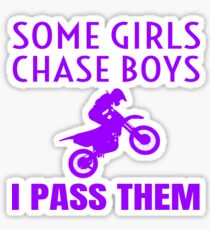Funny Dirt Bike Motocross Dirtbike For Women Girls Sticker