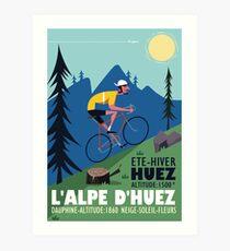 Lámina artística Cartel ciclista de L'Alpe D'Huez