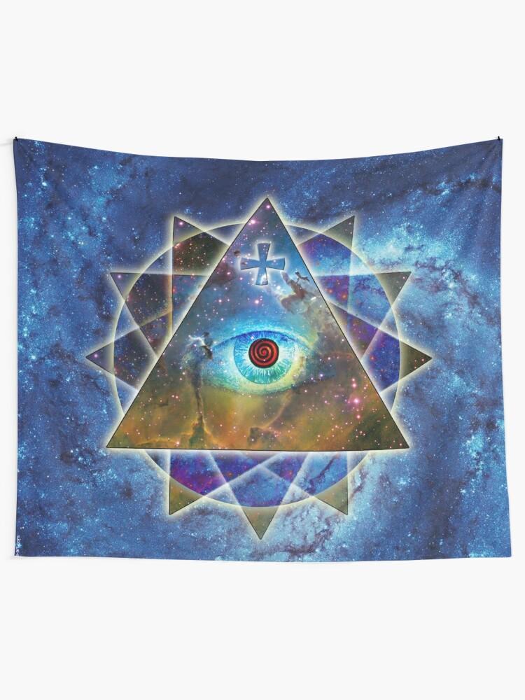 22891b65d Tela decorativa «El ojo de Dios Gran Hermano Universo» de Margarita ...