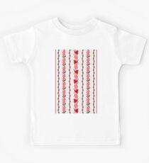 Ethno Ukrainian Pattern - Trauben Guelder Rose Eiche - Symbol Kinder T-Shirt