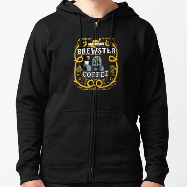 Brewster's Cup of Coo'ffee  Zipped Hoodie
