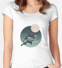 moonlight caravan // orcas Fitted Scoop T-Shirt