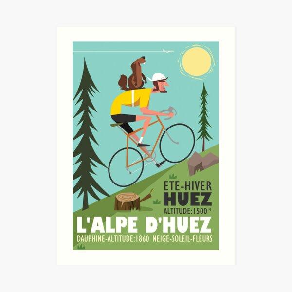 Affiche cycliste et Marmotte Impression artistique