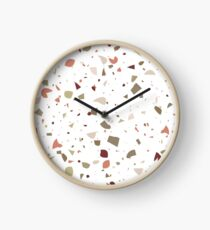 terrazzo pattern Clock