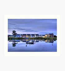Boatyard Reflections Art Print