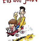 Elis and John take a ride by timtoons