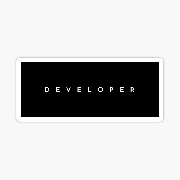 Developer (minimal) Sticker