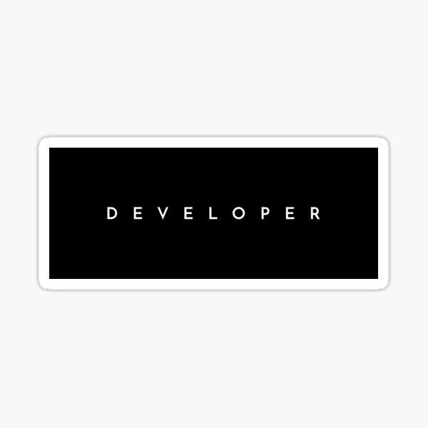 Developer (minimal) Sticker