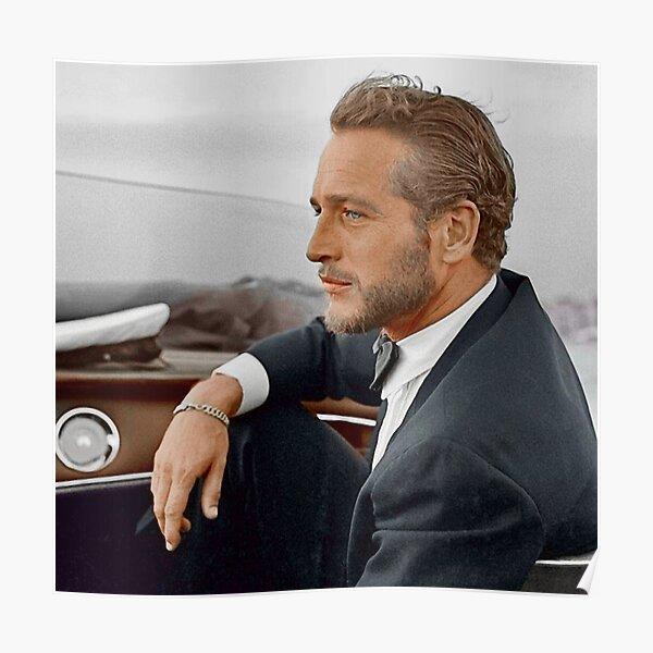 Handkoloriertes Bild von Paul Newman. Poster