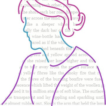 Write Like a Girl - Virginia Woolf Silhouette by DokiDokiHearts