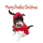 Merry Doodles Christmas With Labradoodle by daphsam