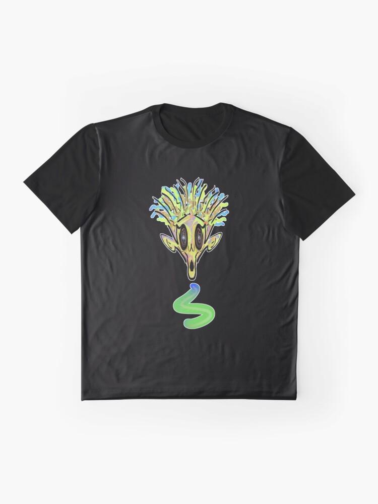 Vista alternativa de Camiseta gráfica Demonio necrófago
