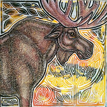 Standing Moose by LynnetteShelley