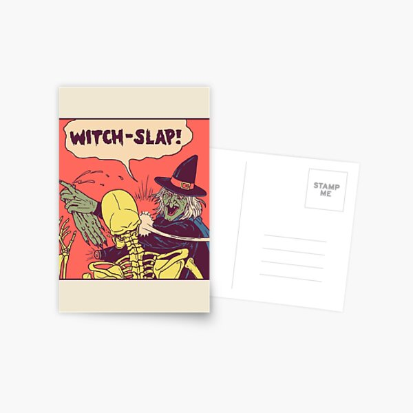 Witch-Slap Postcard