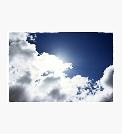 High as a Kite, freedom through flight Photographic Print