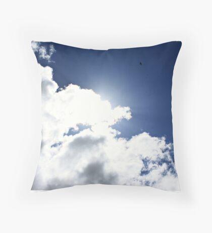 High as a Kite, freedom through flight Throw Pillow