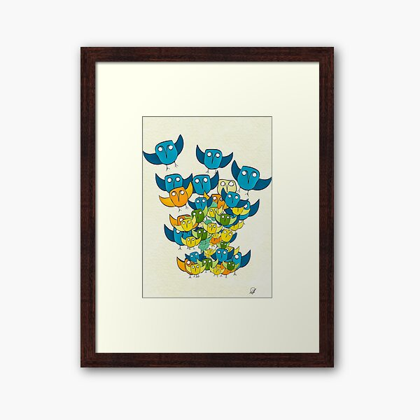 And out of nowhere came an owl storm Framed Art Print