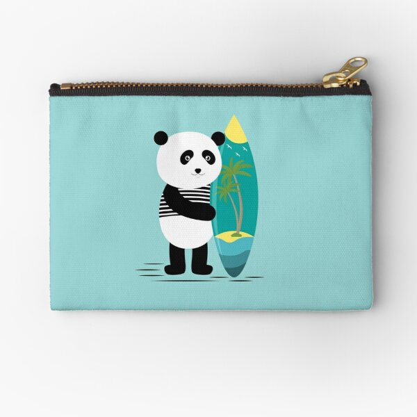 Surf along with the panda Zipper Pouch