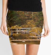 Autumn By a Woodland Stream Mini Skirt