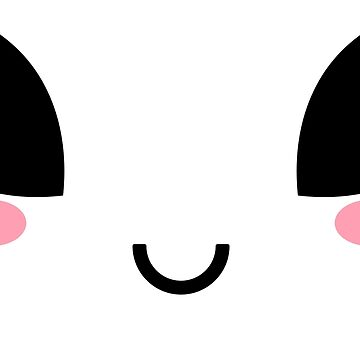 Happy Kawaii Alien Eyes Face Emoji Emoticon  by boom-art