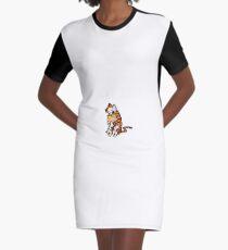 Calvin and Hobbes BFFs Graphic T-Shirt Dress