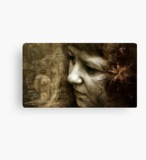 submerged in thoughts  Canvas Print