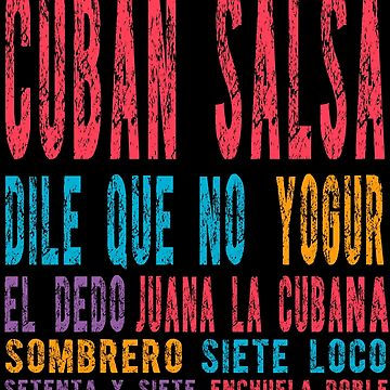 Cuban Salsa Latin Dancing - Salsa dance shirts by Dubbra