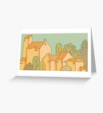Simple landscape Greeting Card