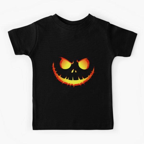 Scary Pumpkin Face Halloween T Shirt Shirt Jack O Lantern Costumes Kids T-Shirt
