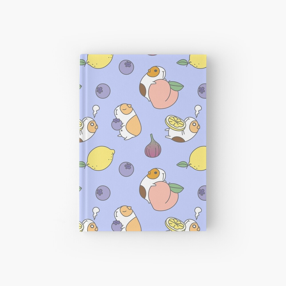 Guinea pig and blueberry  Hardcover Journal