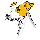 Jack Russell Dog Portrait by Adam Regester