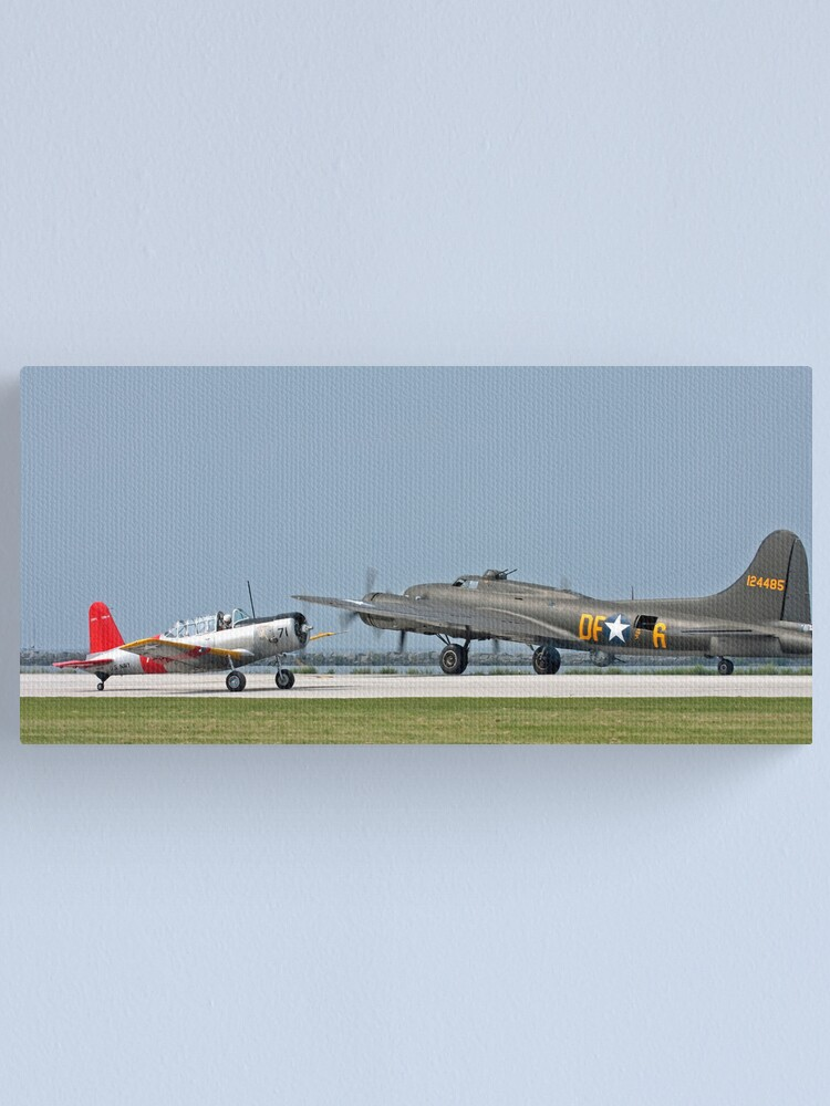 Alternate view of Two WWII Aircraft Canvas Print