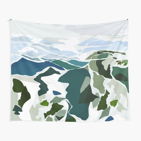green mountains Tapestry