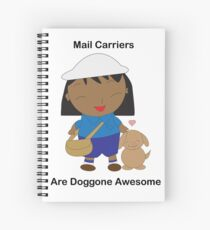 Mail Carrier Female Black Dog Awesome Spiral Notebook