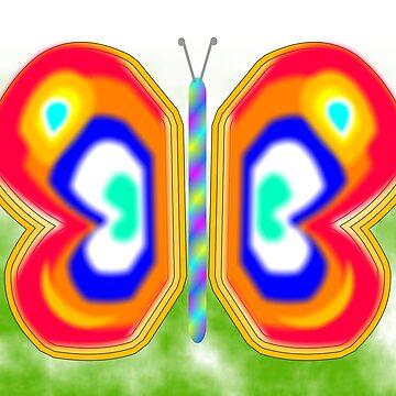 Neon Butterfly by Almdrs