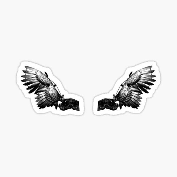 Steel wings Sticker